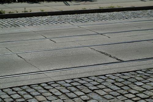 street trolley cobblestone