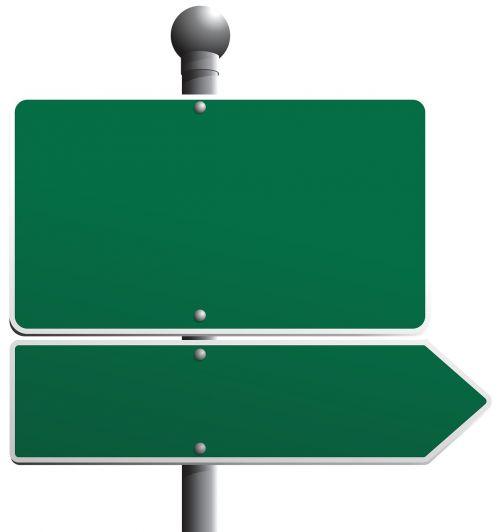 street blank sign