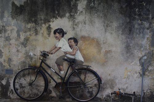 street art penang asia
