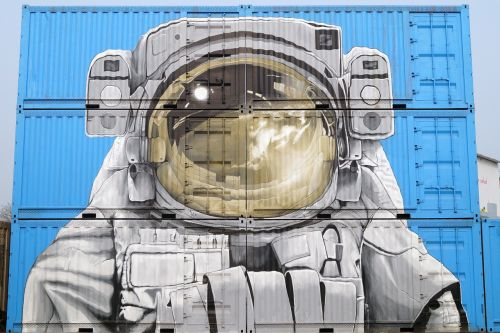 street art shipping container freight