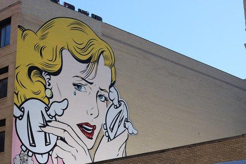 street art  new york  woman