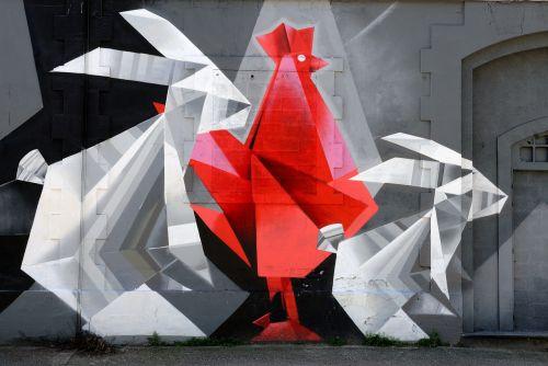 street art painting hangar