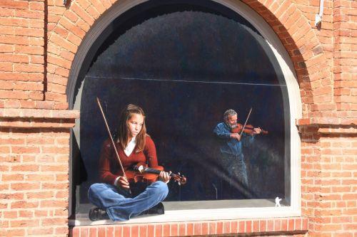 Street Art: Girl With Violin