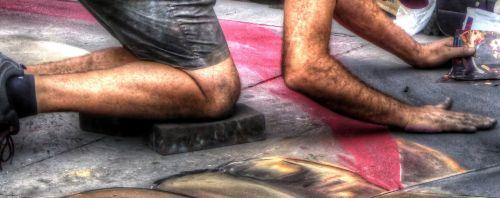 menas, gatvė & nbsp, menas, menininkas, kreida, šaligatvis, dažymas, kurti, atkreipti, piešimas, gatvės menas