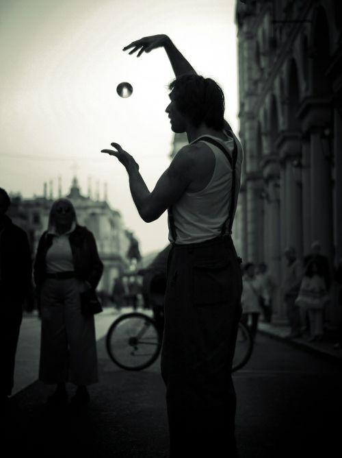 street artist artist black and white