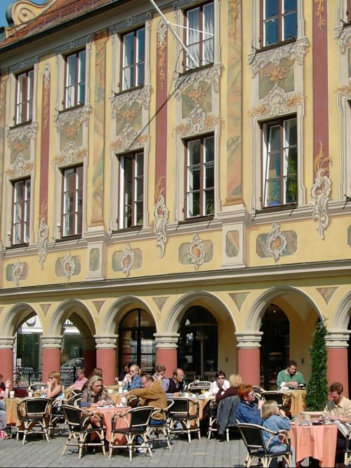 street cafe magnificent façade mediterranean flair