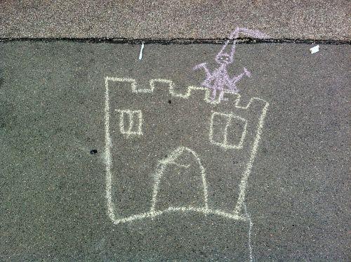 street chalk street art children picture
