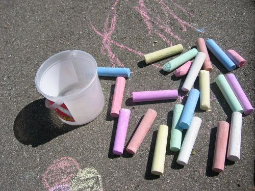 street chalk chalk colorful