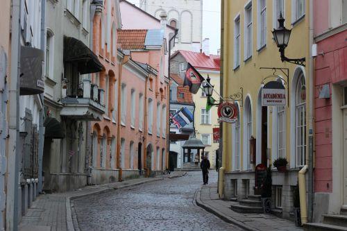 Street In Old Town Tallinn Estonia