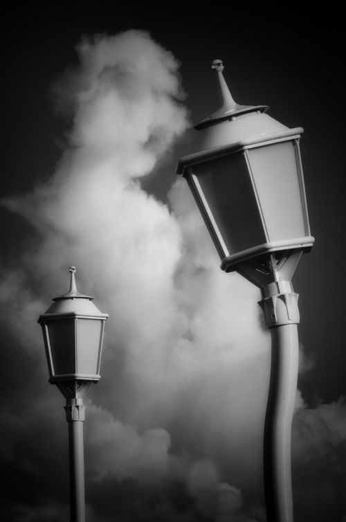 street lamp,clouds,sky,lighting,luminary,public lighting