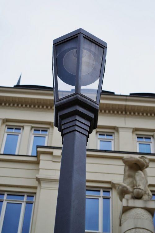 street lamp lantern afterglow