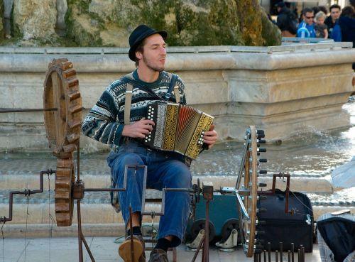 street musician accordion music