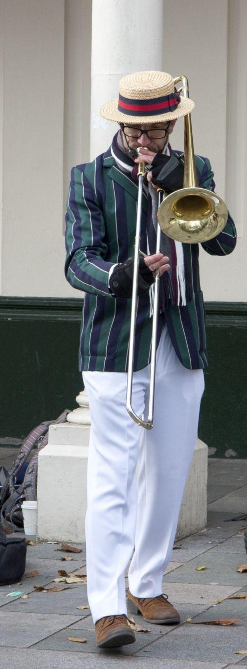 Street Musician Trombone Player