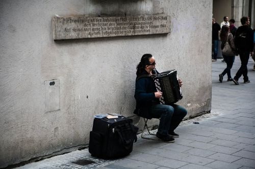 street musicians accordion musician