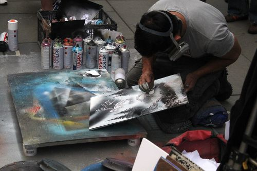 street painter artist vienna