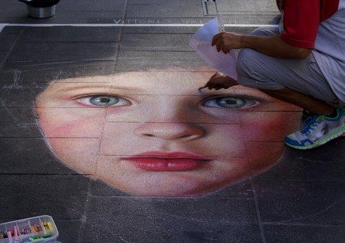 street performer  madonnaro  madonnari