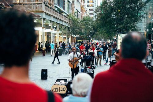 street performer busker musician