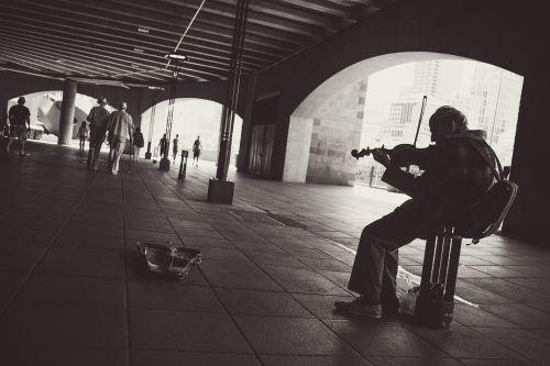 street performer musician violin