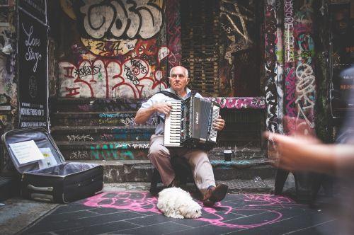 street performer musician music