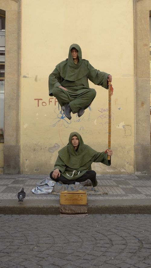 street performers magic magician