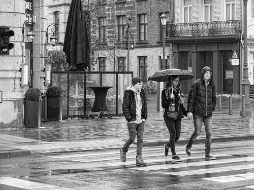 street photography street rain
