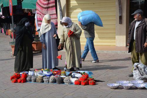 street scene morocco street vending