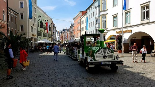 street scene  train  tourism