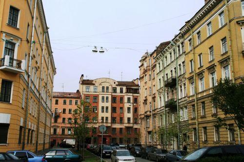 gatvė, priemiestyje, pastatai, transporto priemonės, miestas & nbsp, gyvenimas, gatvės scenoje, Sankt Peterburge