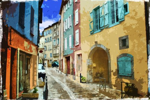 Street Scene Painting