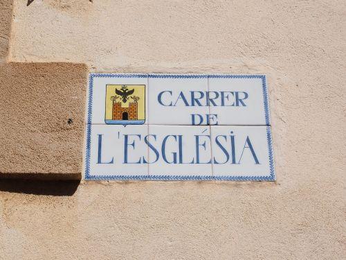 street sign mallorca alcúdia