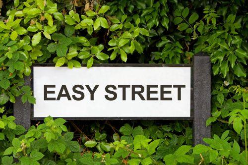 street sign easy street road