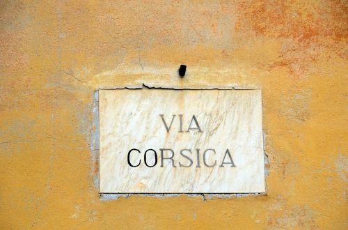 Street Sign In Pisa