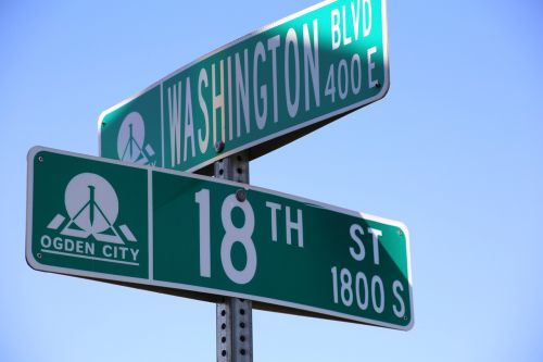 street signs green signs