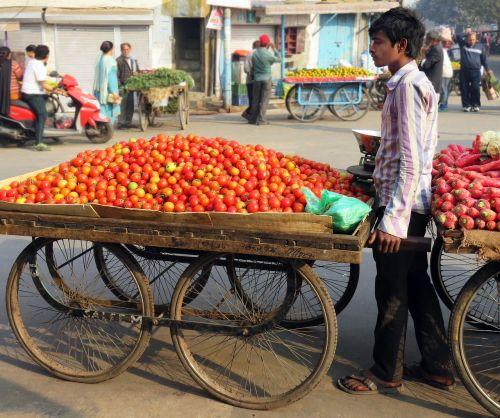 street trading tomatoes dealer