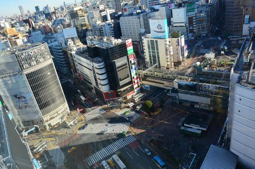 street view tall buildings shibuya