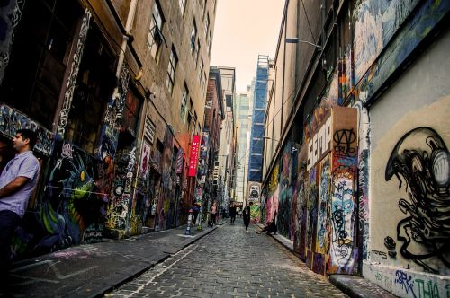 streetart street buildings
