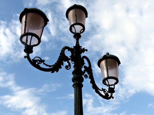 streetlamp venice italy