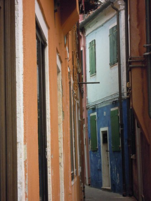 streets houses colored
