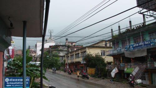 debesis, debesys, kalnas, kalnas, katmandu, Nepalas, laukas, miestas, perėjimas, lietus, musonas, gatvė, Katmandu gatvės