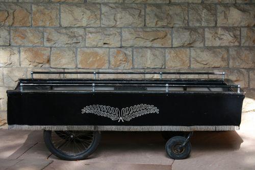 stretcher hearse coffin