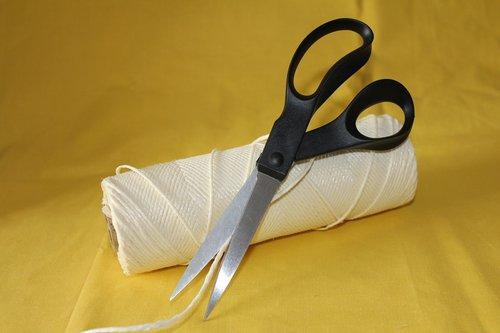 string  scissors  packing