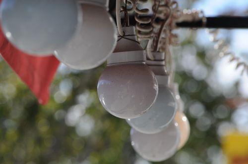 String Of Glass Globe Lights