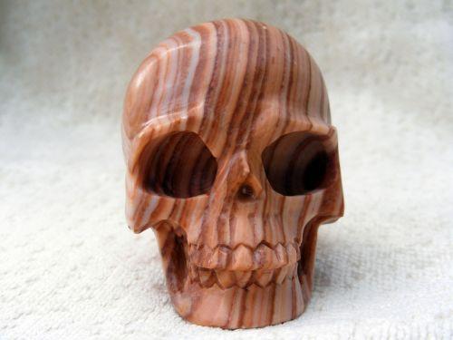 striped jasper crystal skull