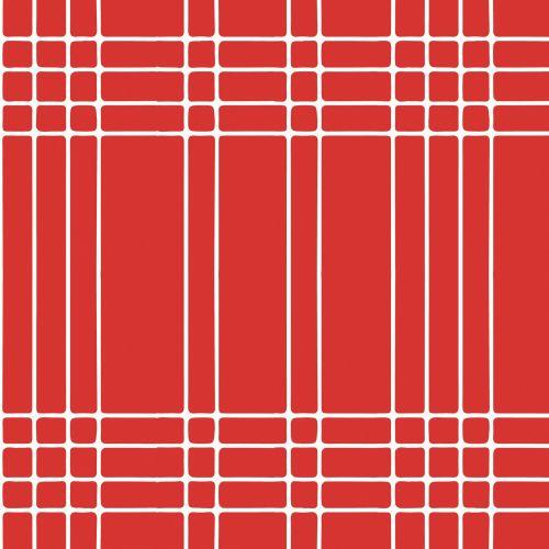 Stripes, Checks Red, White