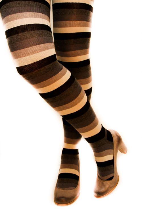 stripped leggings long socks ladies shoes