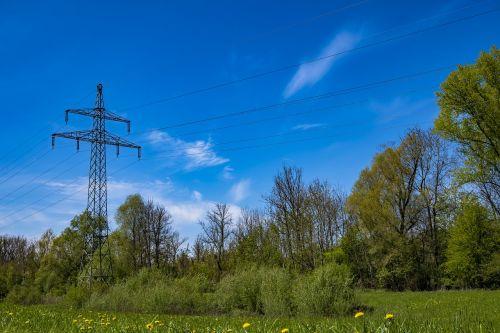 strommast sky electricity