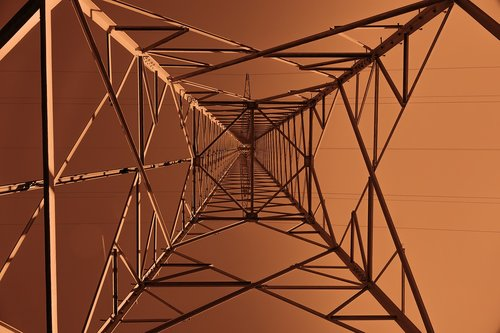 strommast  perspective  high voltage