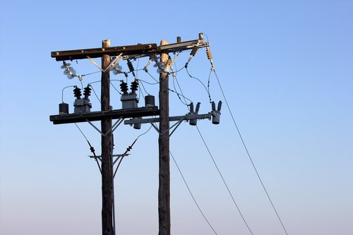 strommast  electric  lines