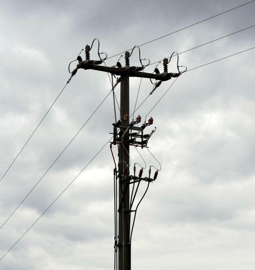 strommast energy power lines