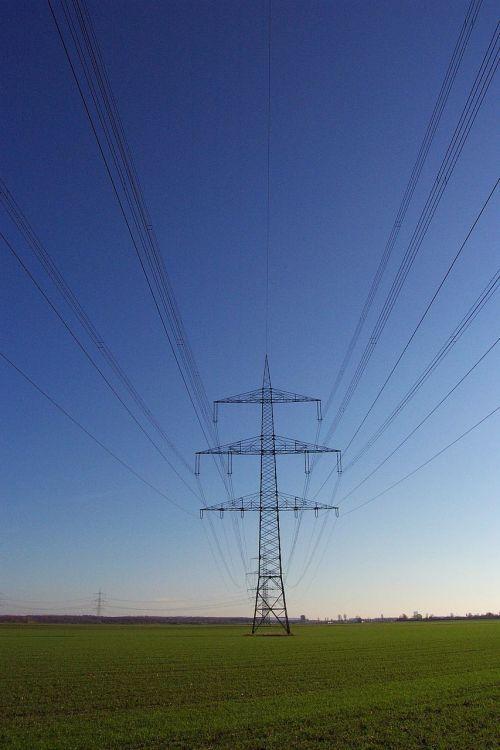 strommast power lines electricity